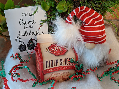 Gnome Holiday Gift Box with Apple Cider