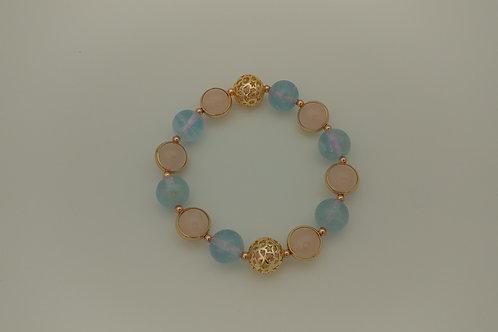 Aquamarine/Rose Quartz 海藍寶/粉晶