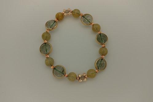 Golden Rutilated Quartz/Green Phantom金髮晶/綠幽靈