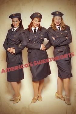 America's Sweethearts in WASP attire