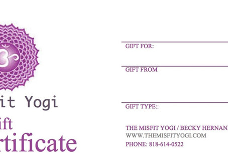 15% off last minute Gift Certificates