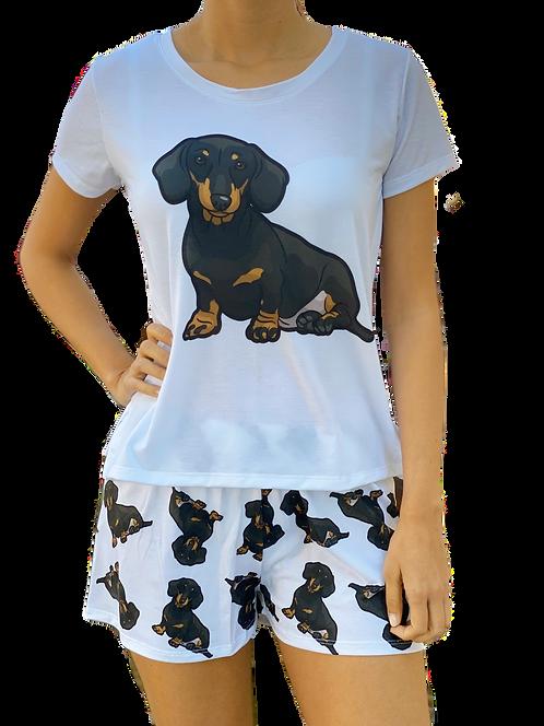 Black Dachshund w/shorts