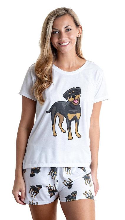 Rottweiler w/ shorts