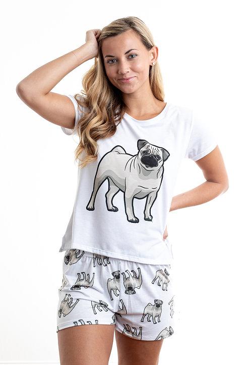 Pug w/ shorts