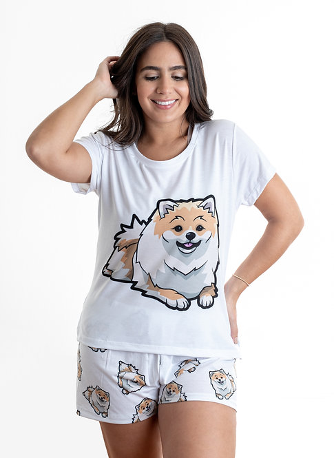 Pomeranian w/shorts