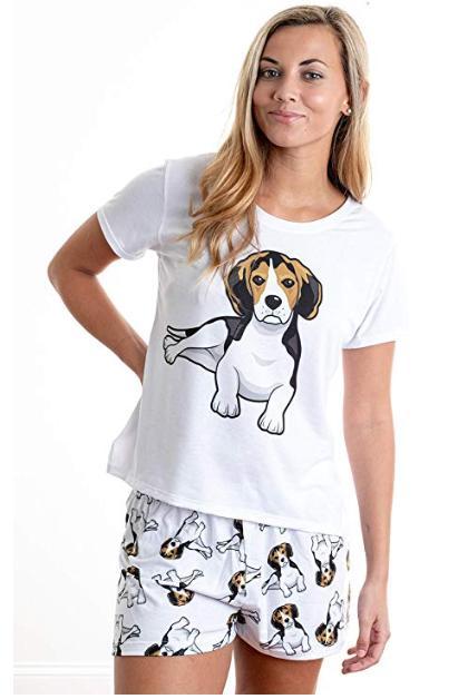 Beagle w/ shorts
