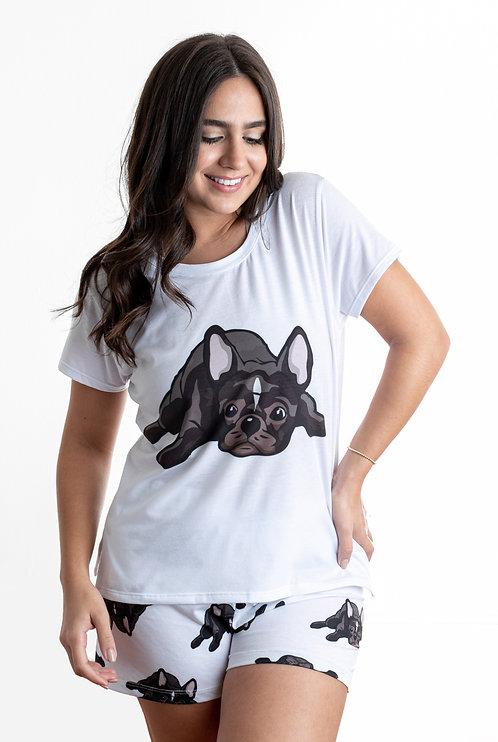 Black frenchie w/ shorts