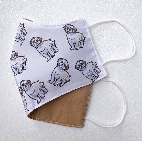 Shih tzu dog face mask