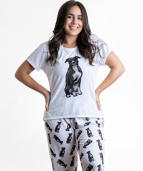 Black pitbull w/pants