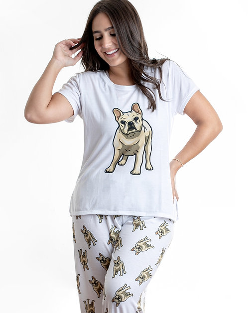 Yellow Frenchie  w/pants French Bulldog