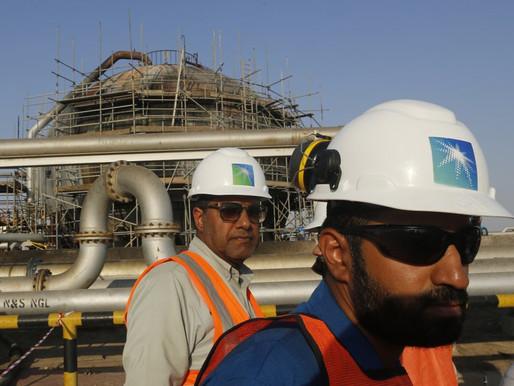 Las utilidades cayeron en Saudi Aramco, la compañía petrolera más grande del mundo