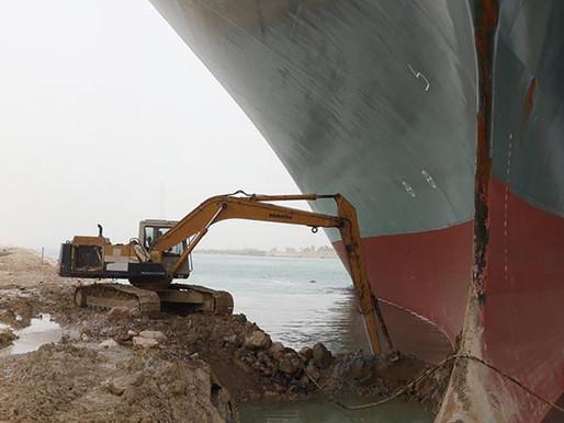 El bloqueo del Canal de Suez está retrasando un estimado de $400 mdd por hora en bienes