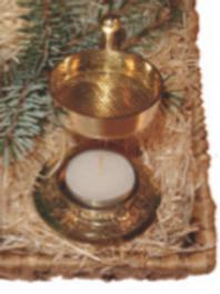Räucher- Stövchen gold