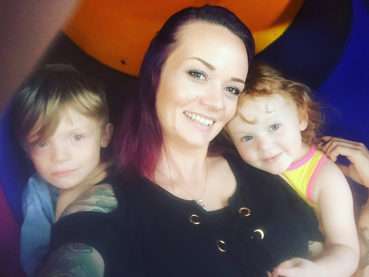 Audrey Lynn and her two children