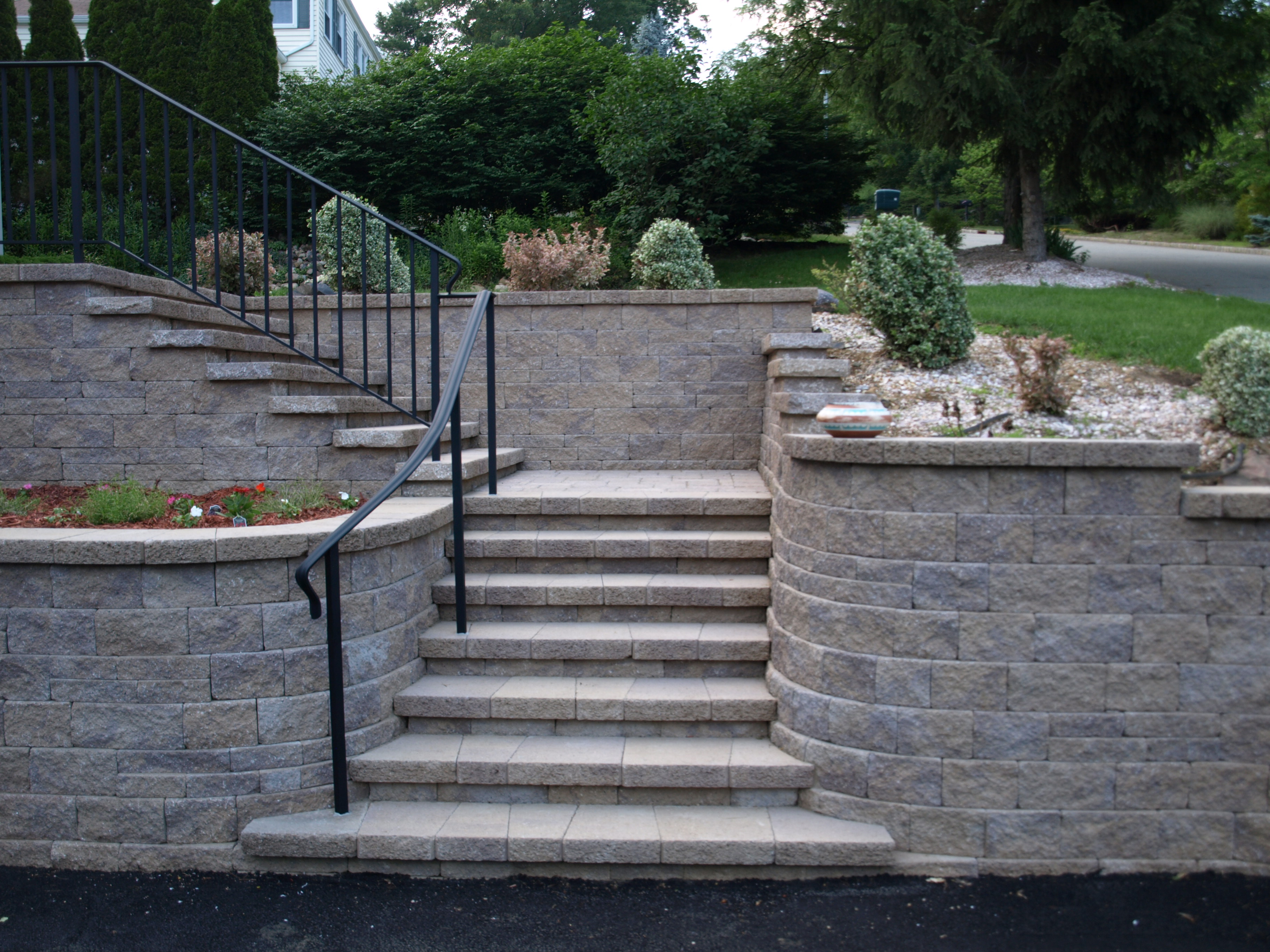 Stairs and Retaining Wall