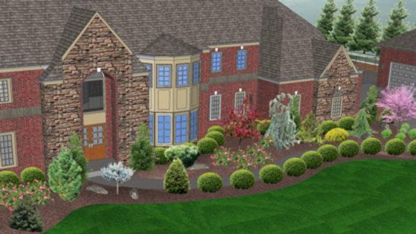 Front or Back Landscape Planting Design