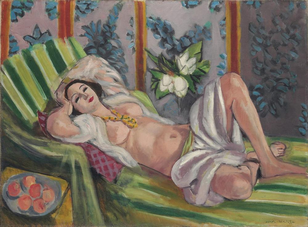 Henri Matisse's Odalisque couchée aux magnolias.Source: Christie's