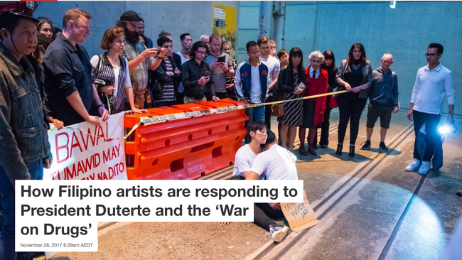 How Filipino artists are responding to President Duterte and the 'War on Drugs'