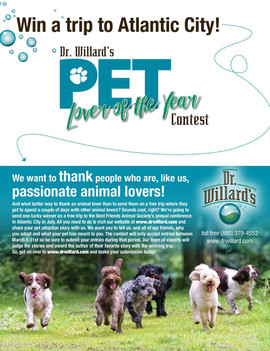Dr. Willards Pet Lover Contest Ad