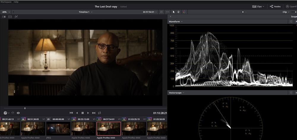 Color Grading - The Last Deal Short Film - Waveform