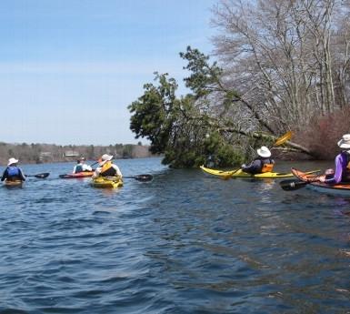 Kayaking on Mystic Lake