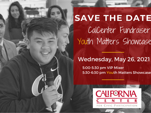 Save the Date! CalCenter Fundraiser: Youth Matters Showcase