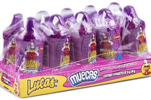 Muecas Lucas, sabor chamoy - 10 piezas - 240 gr