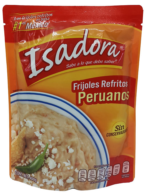"Frijoles refritos Peruanos ""Isidora"" 454gr"