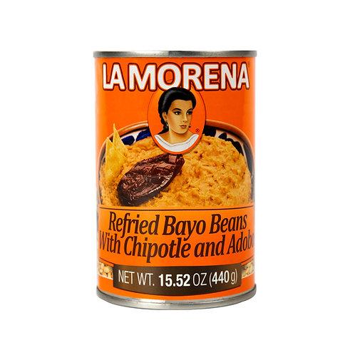 """Frijoles refritos Bayos con chipotle """"La Morena"""" 440gr"""