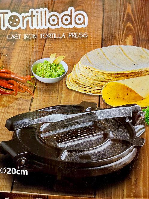 """Prensa para tortillas """"Tortillada"""" en hierro 20 cm"""