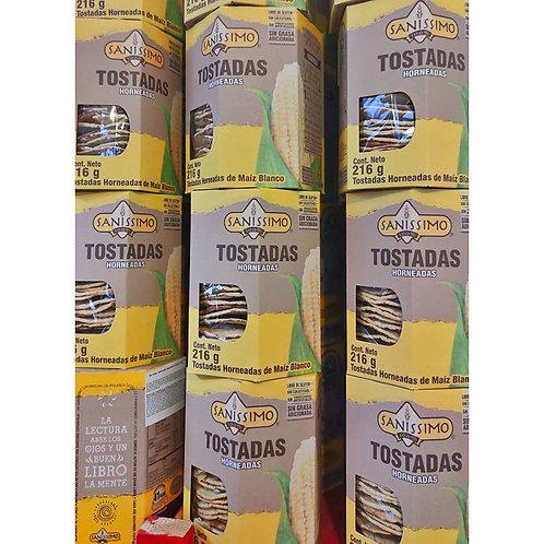 Tostadas de maiz, Horneadas Sanissimo - 216 gr.