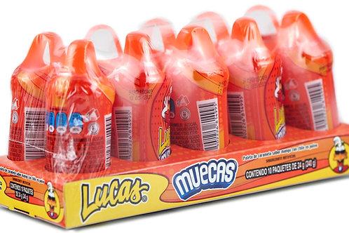 Muecas Lucas, sabor Mango - 10 piezas - 240 gr