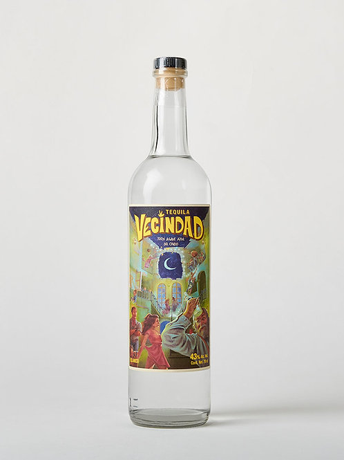 "Tequila blanco ""Vecindad"" - 100% agave - 700 ml"