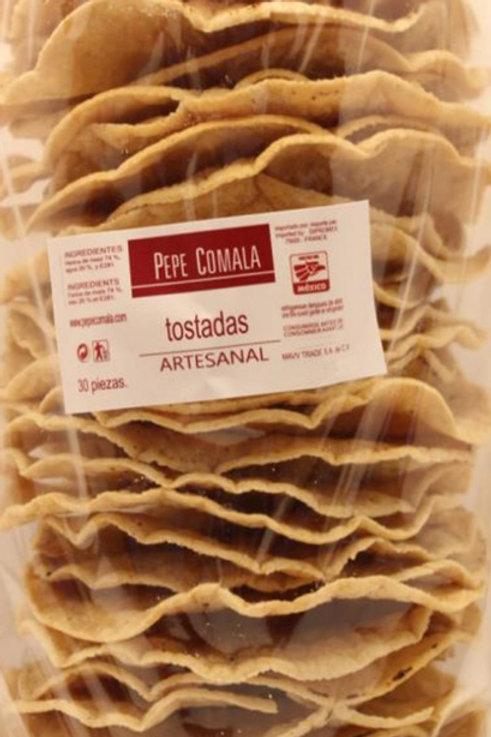 Tostadas de maiz, Pepe Comala - 30 piezas - 500 g
