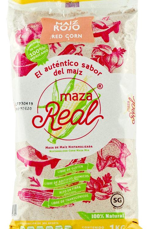 """Harina de maíz ROJO """"Maza Real"""" 1 K - Libre de transgénicos"""