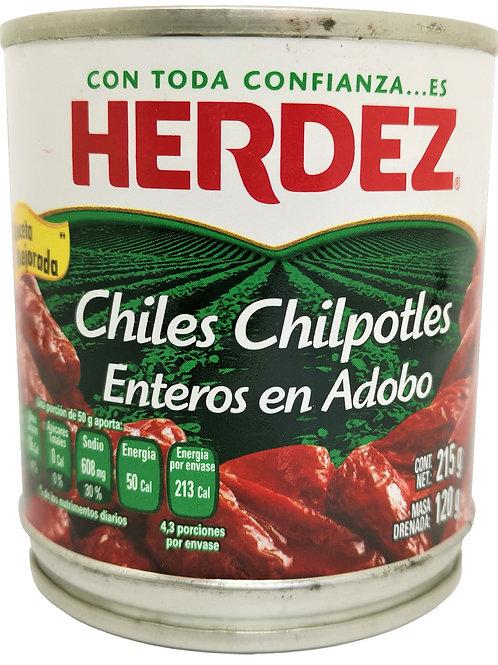 """Chipotles en conserva """"Herdez"""" 215 gr"""