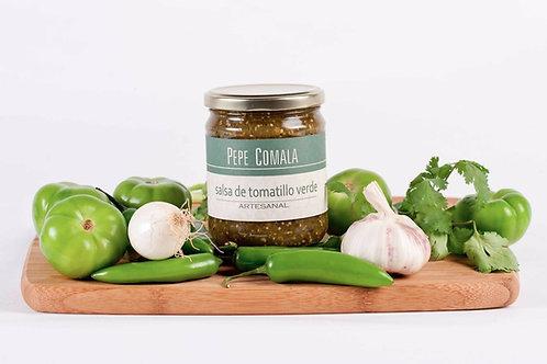 Salsa de tomatillo verde tatemado, Pepe Comala - 465 g