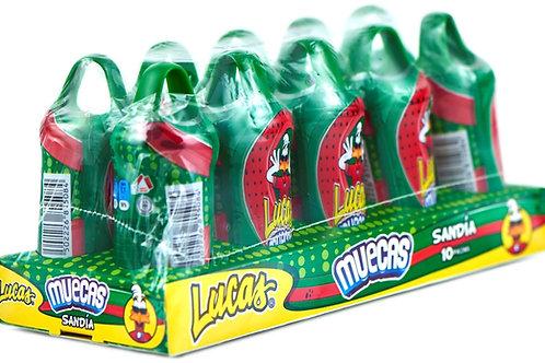 Muecas Lucas sabor Sandia - 10 piezas - 240 gr