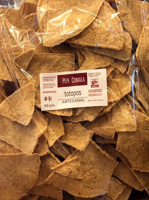 Totopos de maiz Pepe Comala - 500 g