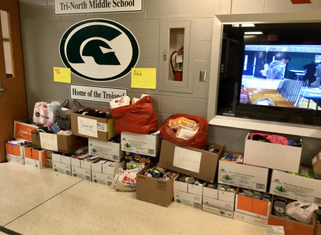 Tri North Middle School Donates to New Hope