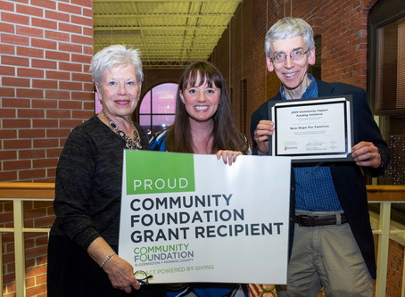 New Hope Receives $50,000 Grant from Community Foundation!