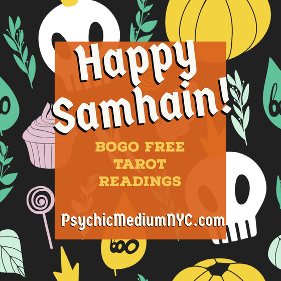 Happy Samhain! BOGO FREE Tarot Readings!