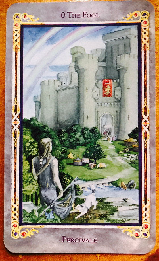 Card 0 The Fool in the Arthurian Tarot