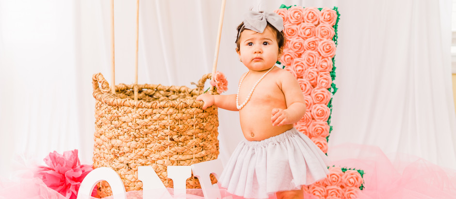 First Birthday Photo Session in Williamsburg, Virginia