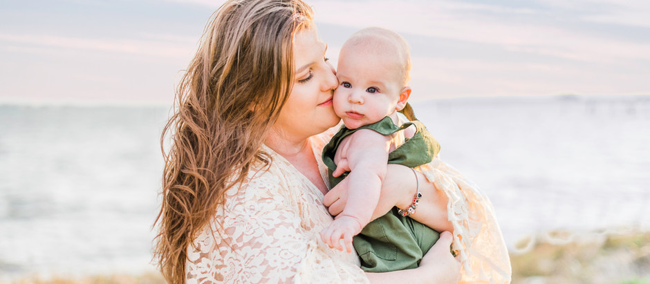 Stunning Sunset Mommy & Me Session at Messick Point in Poquoson, Virginia