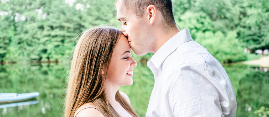 Engagement Session with Prompt Ideas at Sandy Bottom Nature Park in Virginia.