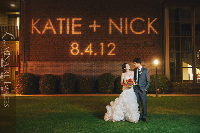 Kate & Nick Gobo light