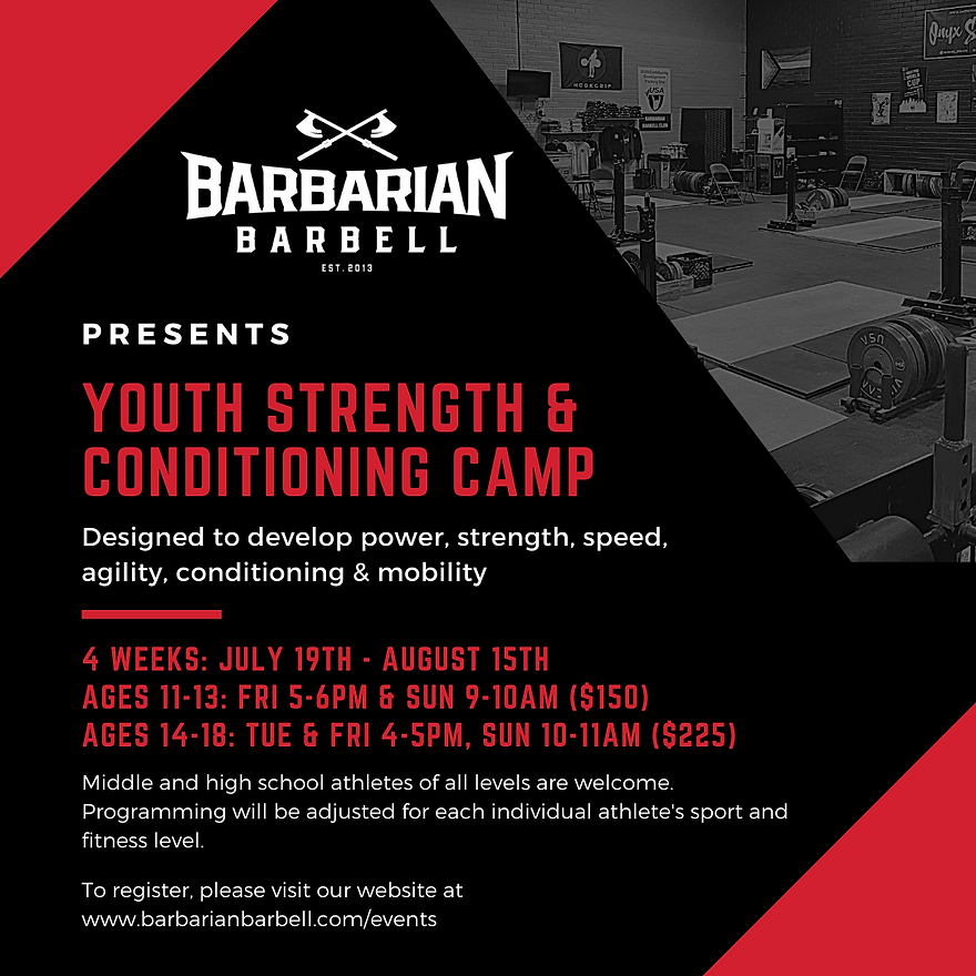Youth Strength & Conditioning Instagram