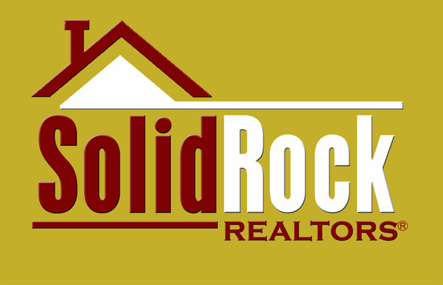 Solid Rock Realty logo gold background copy