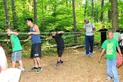 Team Building on the Low Ropes